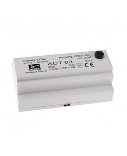 ACT63 Transformateur de sécurité 24VAC