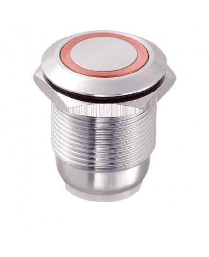Bouton poussoir inox LAS1-GQ-11E-R-WIRES