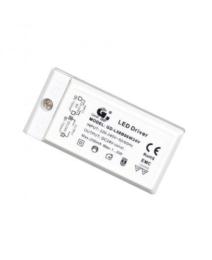 Alimentation Driver LED TENSION CONSTANT 6W  LK08B06W24V