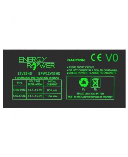 Batterie Étanche au Plomb 12 V / 33 Ah EPW12V33HD