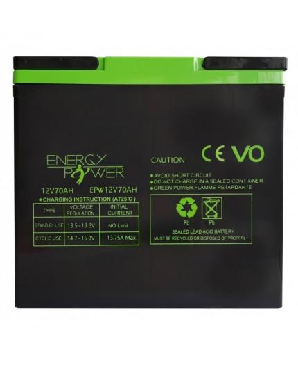 Batterie Étanche au Plomb 12 V / 70 Ah  EPW12V70AH
